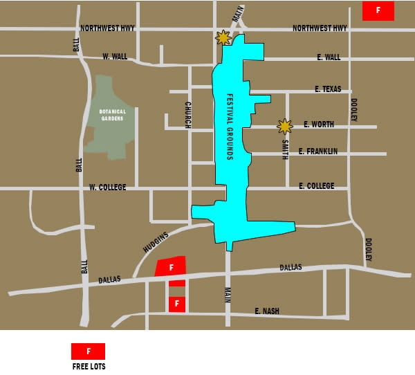 Free Festival Parking Map