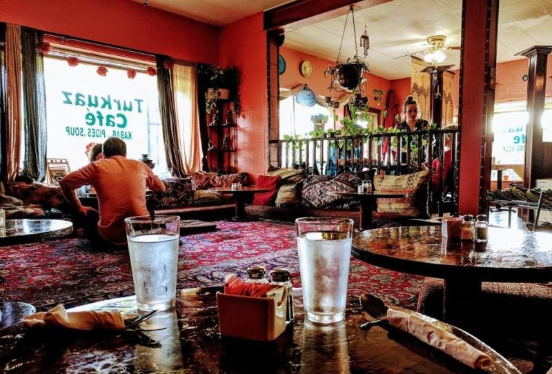 Interior of Turkuaz Cafe
