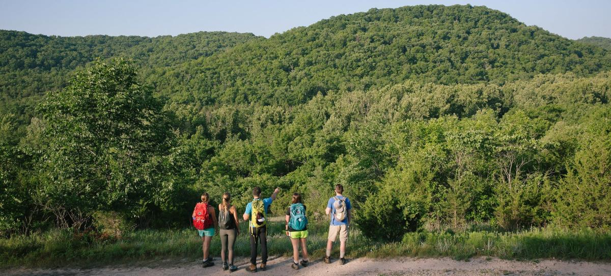 37 North Expeditions on a trail in Busiek State Forest south of Springfield, Missouri