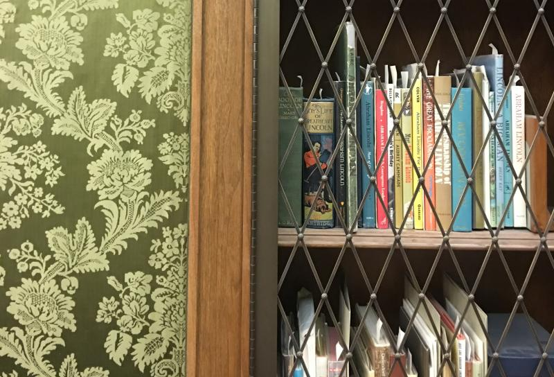 A section of restricted books at the Lilly Library