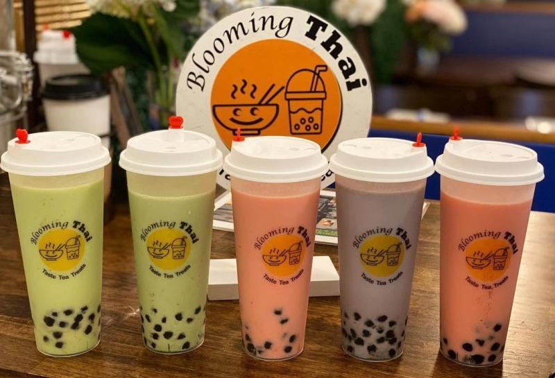 Milk teas from Blooming Thai