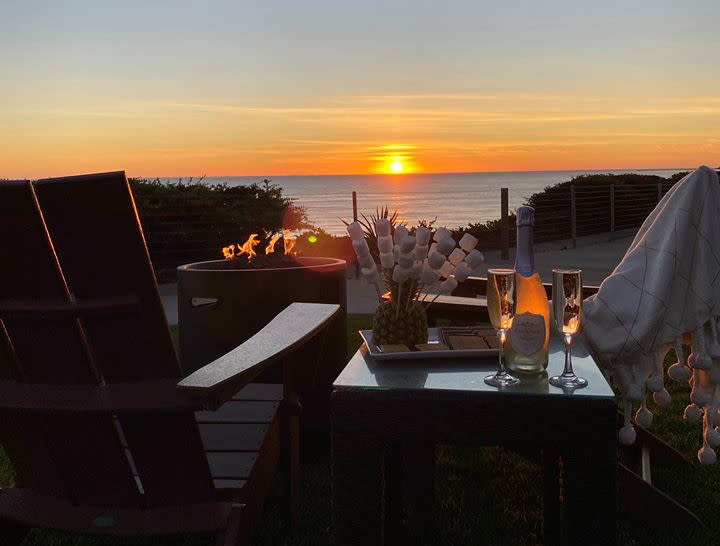View of the sunset from Cliffs Hotel & Spa