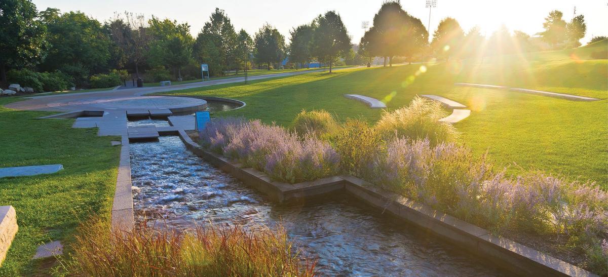 Water Feature at Jordan Valley Park in Springfield, Missouri