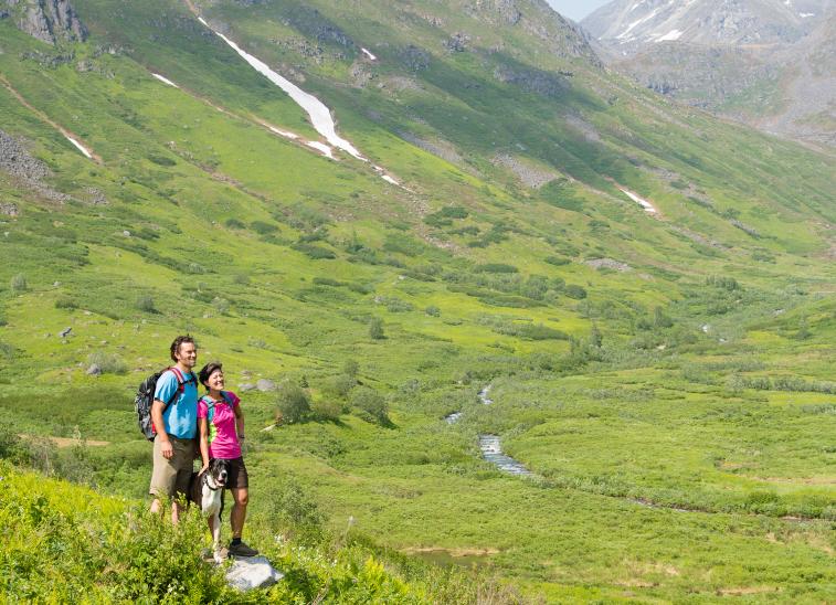 Hikers at Hatcher Pass