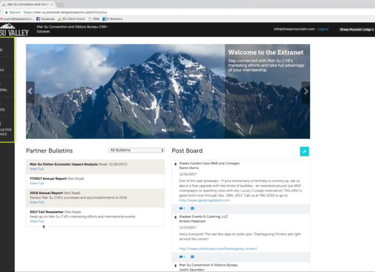 Extranet Training: Login and Home Page