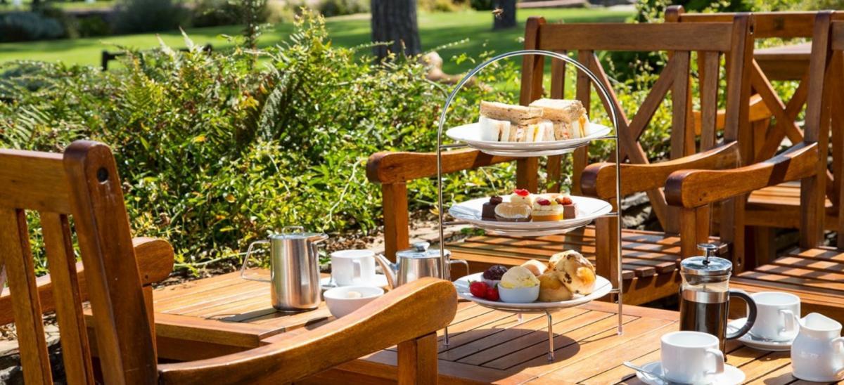 Afternoon tea at Knoll House Hotel, Studland, Dorset