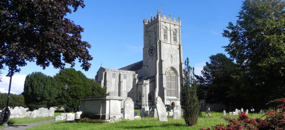 Christchurch Priory and churchyard, Dorset