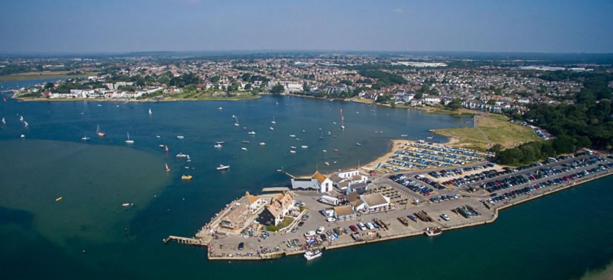 Mudeford Quay and Christchurch Harbour in Dorset