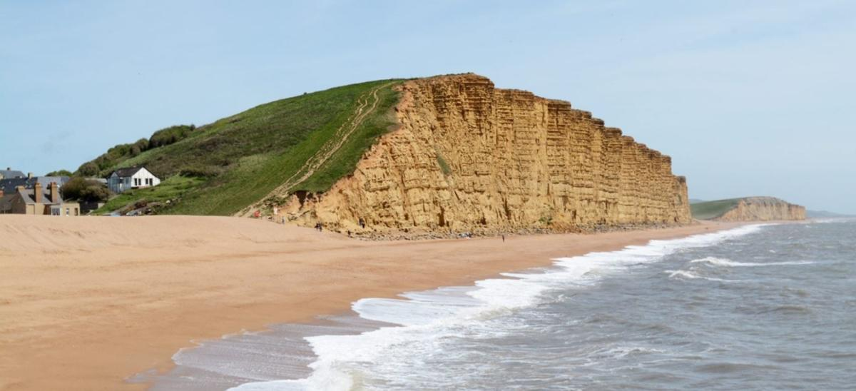 East Cliff at West Bay in Dorset
