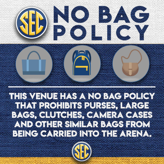 No Bag Policy SEC 2021