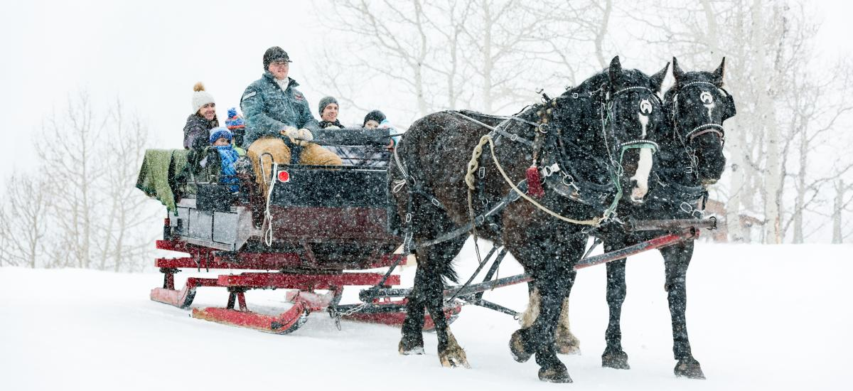 Boulder Mountain Ranch Sleigh Ride at Deer Valley Resort