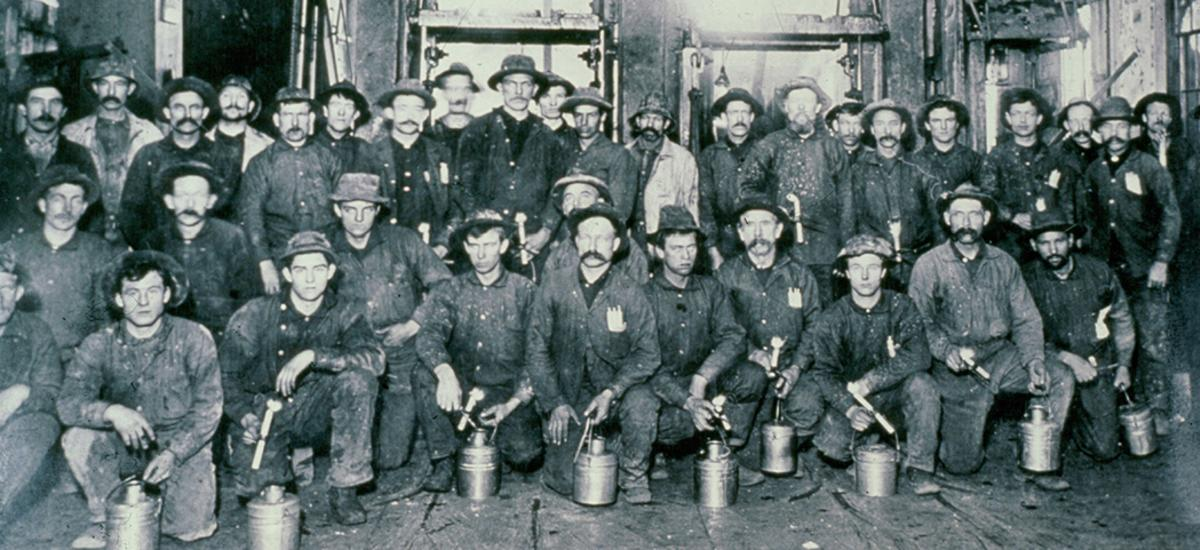 Group of silver miners in Park City