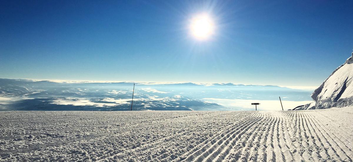 Groomed Ski Run at Deer Valley Resort