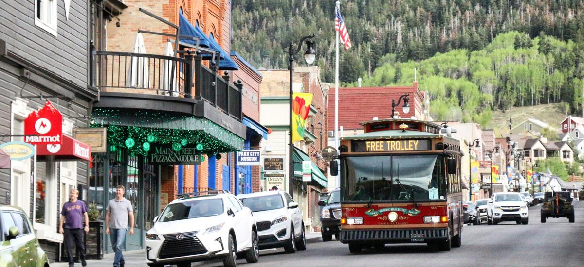 Free Trolley on Park City's Historic Main Street