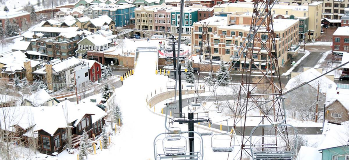 View of Historic Park City from Town Lift