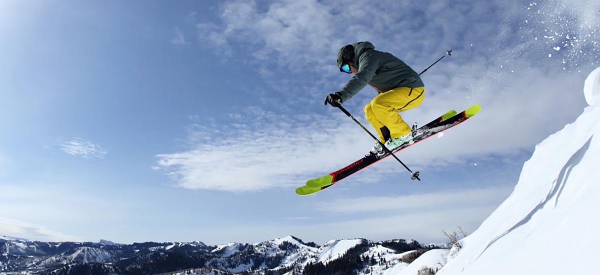 Skier Jumping at Park City Mountain