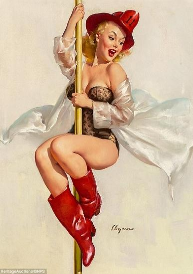 pin-up firefighter