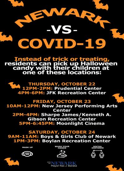 Newark vs COVID-19 - Halloween Attractions and Schedule
