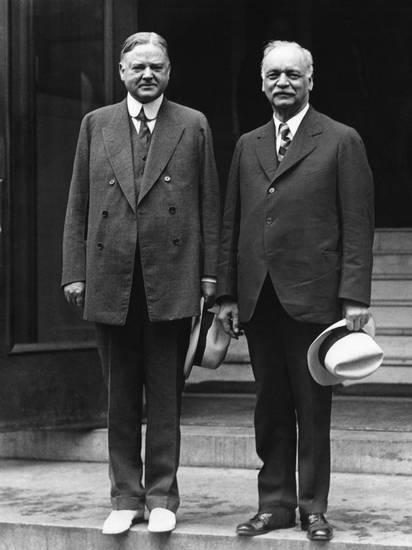 Charles Curtis with Herbert Hoover