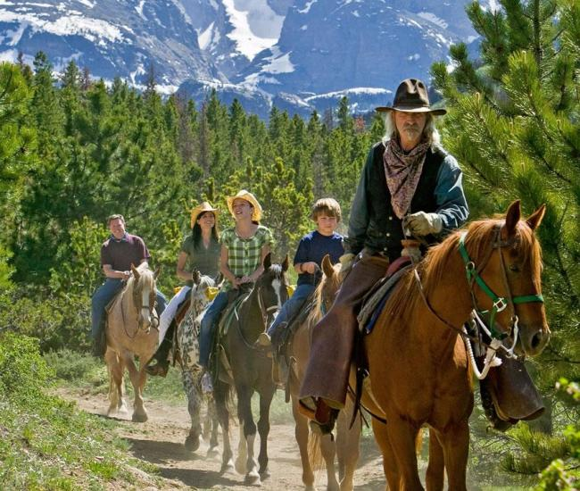 Group Horseback Rides in Estes Park