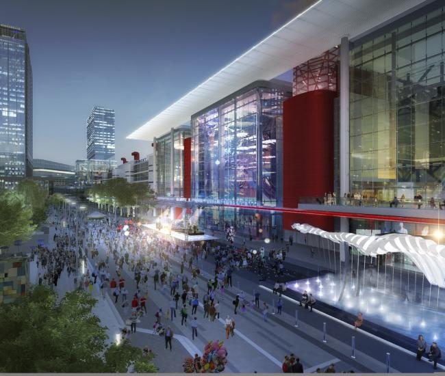 Convention District Rendering - New