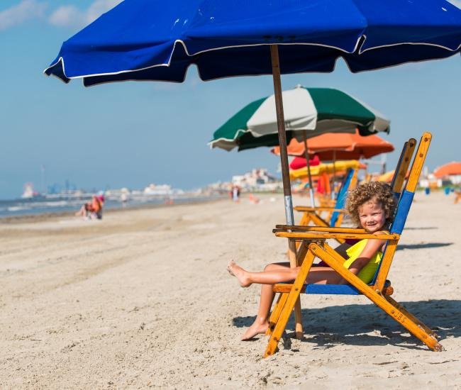 Galveston Stewart Beach - chair