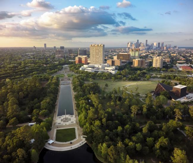 Hermann Park Drone Shot