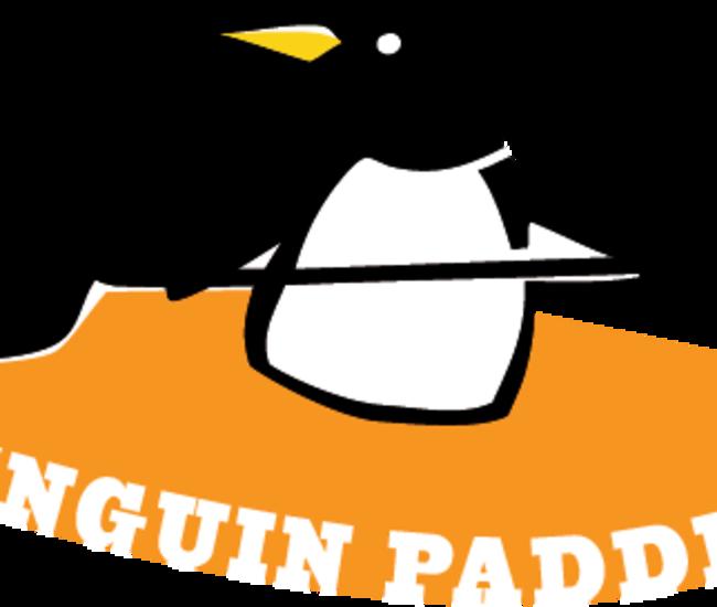 Penguin Paddling Logo