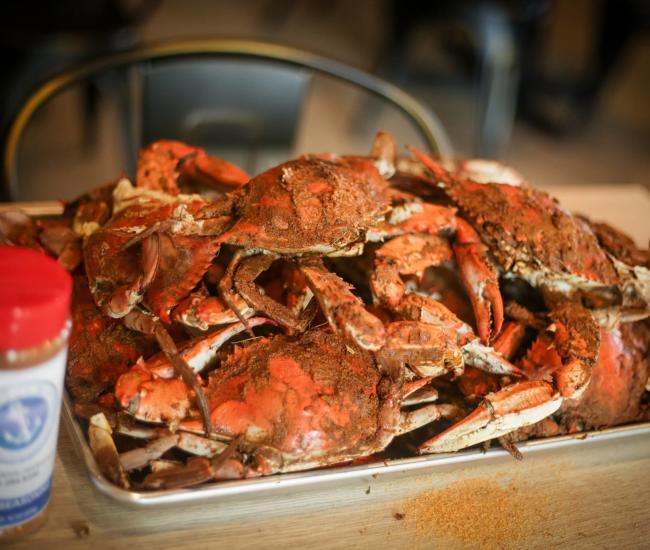 a platter of crabs