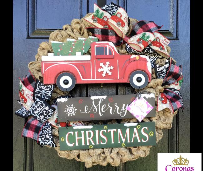 holiday themed door wreath