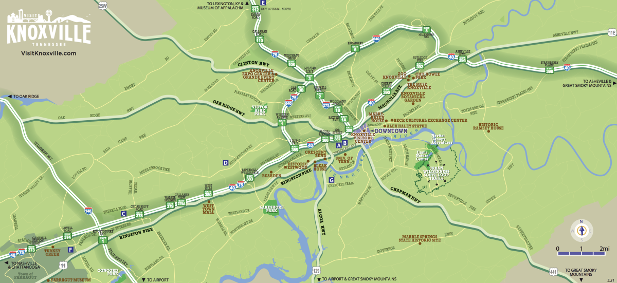 Knox County Map