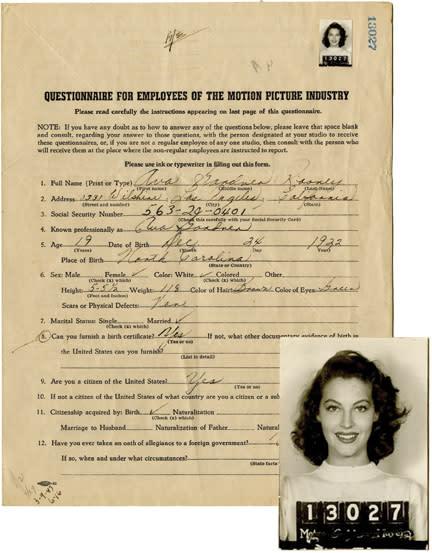 Ava Gardner MGM Headshot