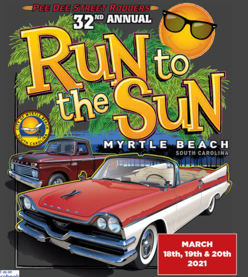 32nd Annual Run to the Sun, March 18-20, 2021 Myrtle Beach, SC