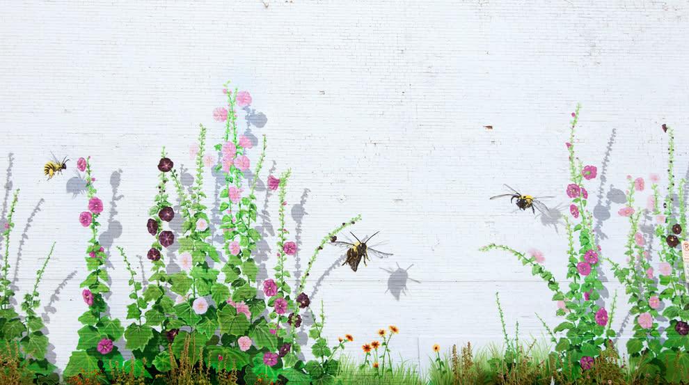 Hollyhock Haven, 2011 mural