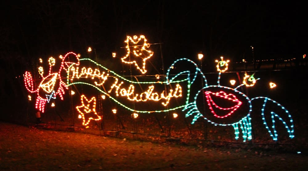 Holiday Lights with Crabs