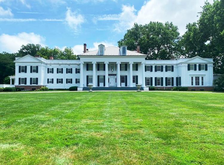 Exterior of Drumthwacket, the governor's mansion, near Princeton, NJ
