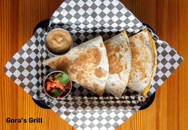 Quesadillas from Gora's Grill in Ypsilanti, MI
