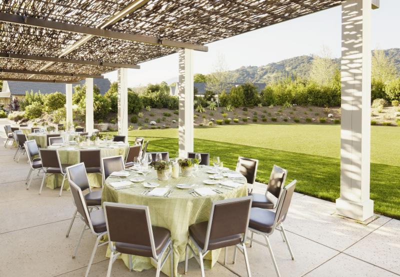 Dining Meeting Space at Solage Resort in Napa Valley