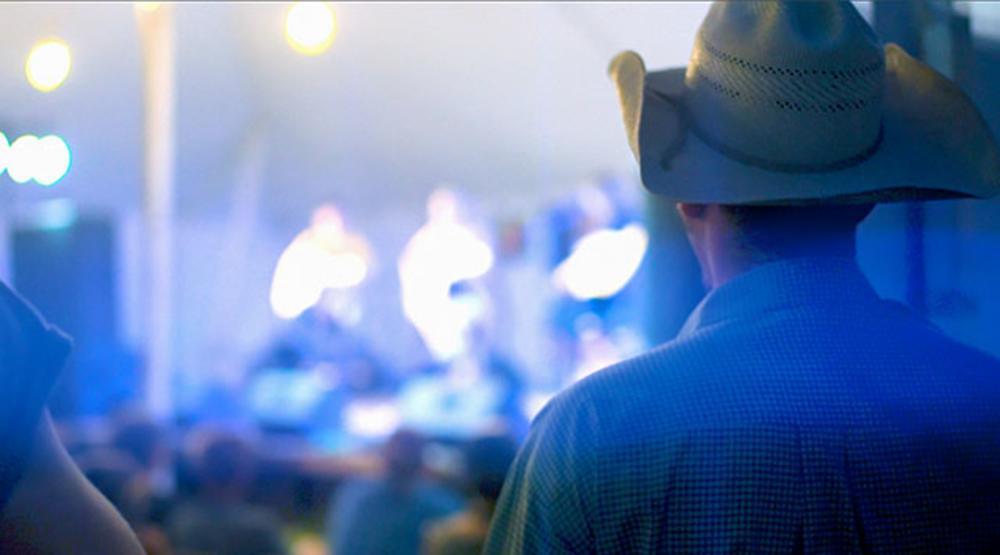 Cowboy enjoying the Heartland Stampede.