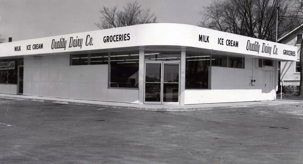 Vintage Quality Dairy Storefront