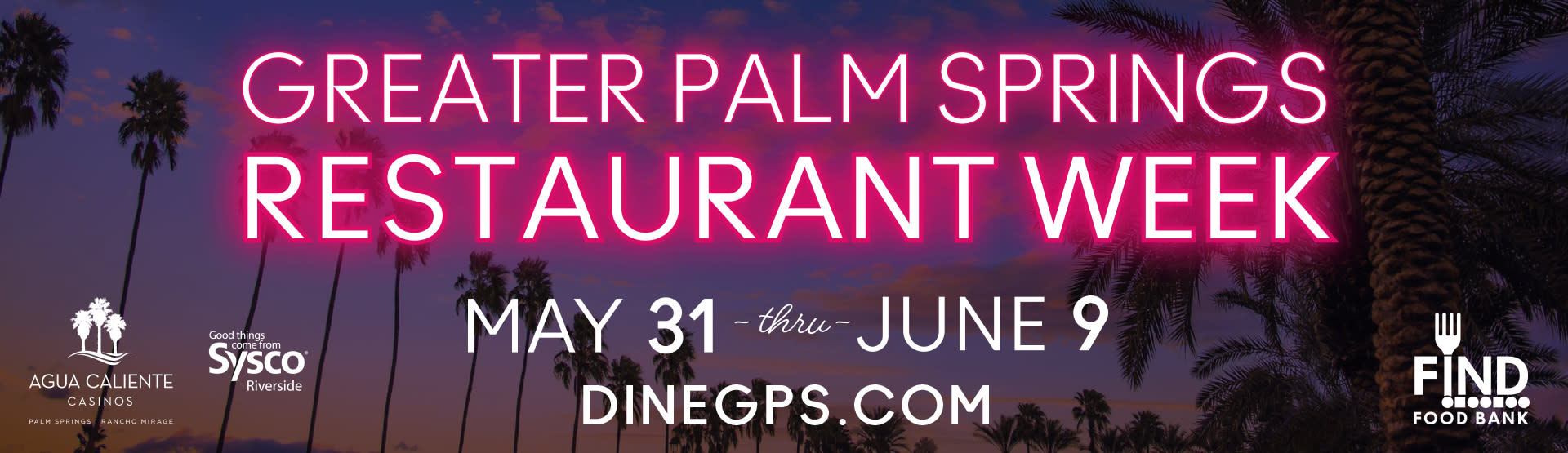2019 Greater Palm Springs Restaurant Week