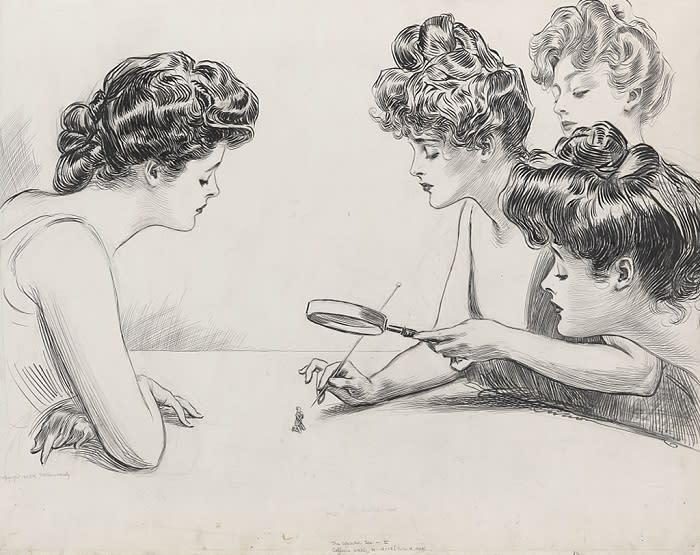 Gibson Girls Magnifying Glass