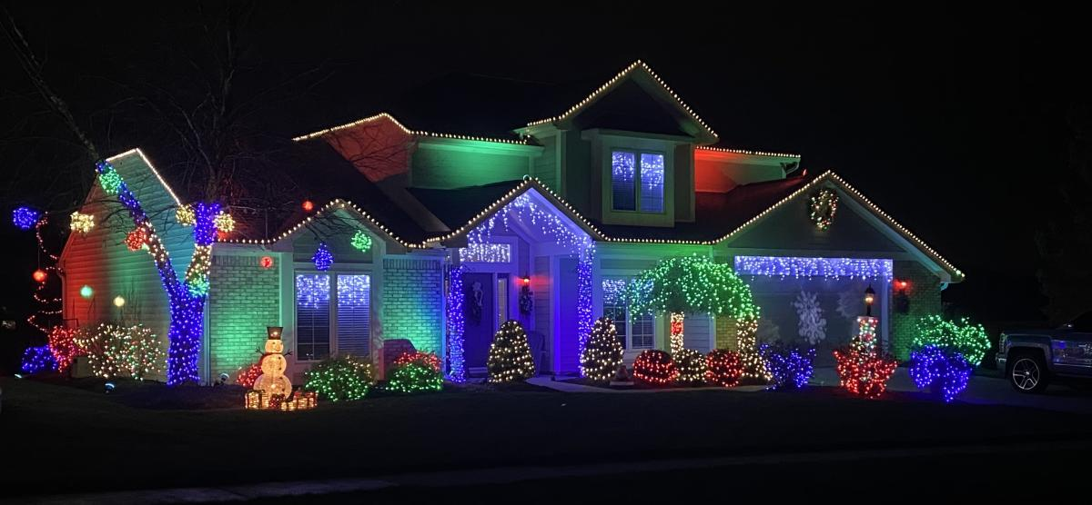 Christmas Light Display at 10022 Greenoak Blvd. in Fort Wayne, Indiana