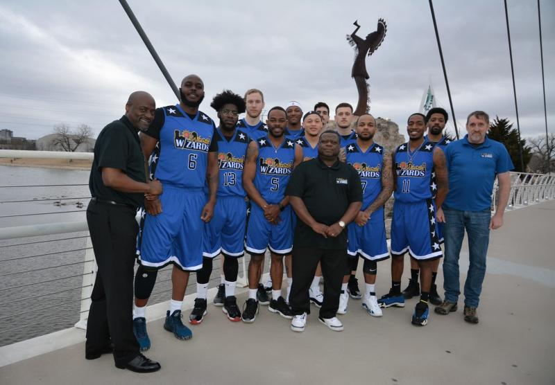 Wichita Wizards Basketball Team at the Keeper of the Plains