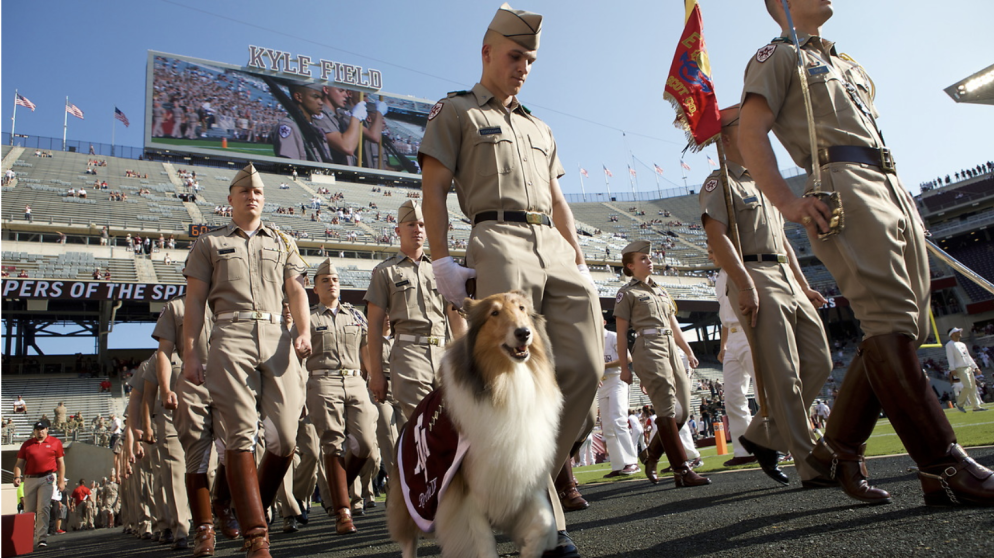 TAMU Corps of Cadets Reveille Kyle Field