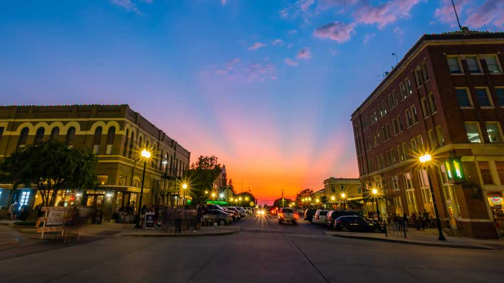 Downtown Bryan Sunset (cropped)