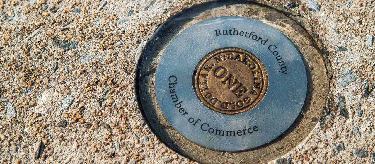 Rutherford County Gold Stamp}