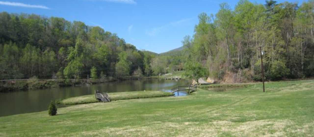 Spring View of a Pond in Rutherford County}