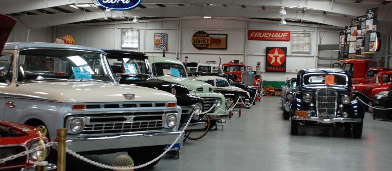 Classic cars are on display at the Bennett's Classics Antique Car Museum in Rutherford County.}