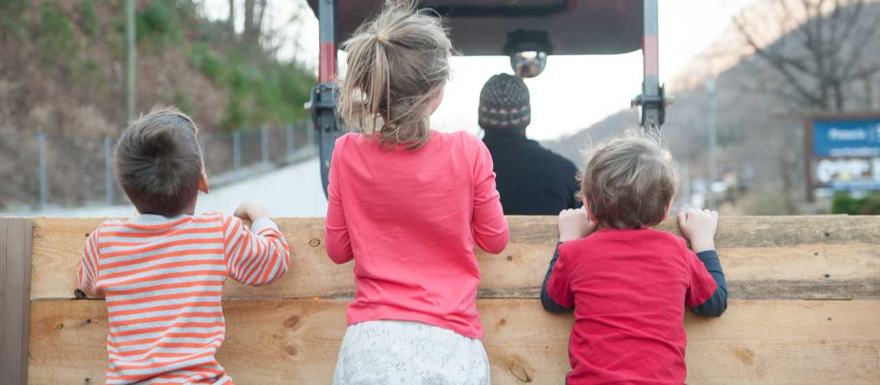 Winterfest hayrides in Chimney Rock}